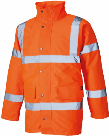 Dickies Hi-Vis Motorway Safety Jacket SA22045/WD041 (Fluorescent Orange)